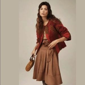 Anthropologie Faux Suede A Line Skirt Akemi + Kin